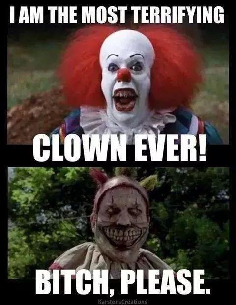 American horror story twisty the  clown vs penny wise from Stephen Kings it