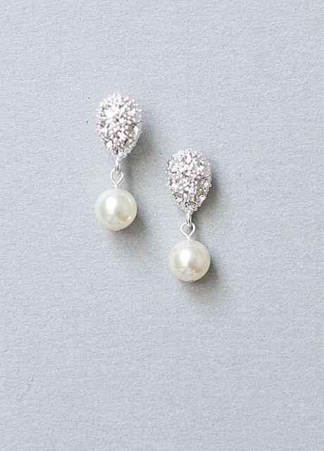Vintage Inspired, 20s, The Great Gatsby, Art Deco, Diamante, Swarovski Pearl, Earrings - Best Selling!