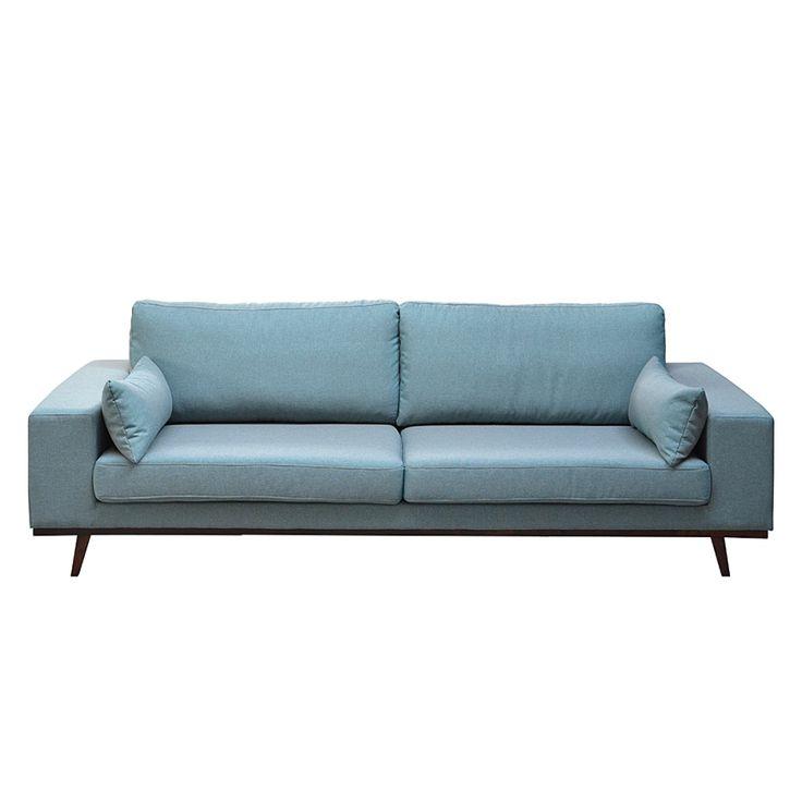 Sofa Billund (3-Sitzer) - Webstoff Aquablau
