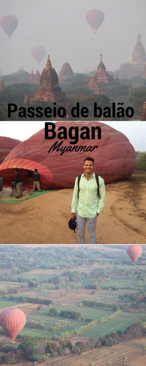 Tudo sobre meu passeio de balão em Bagan, Myanmar.