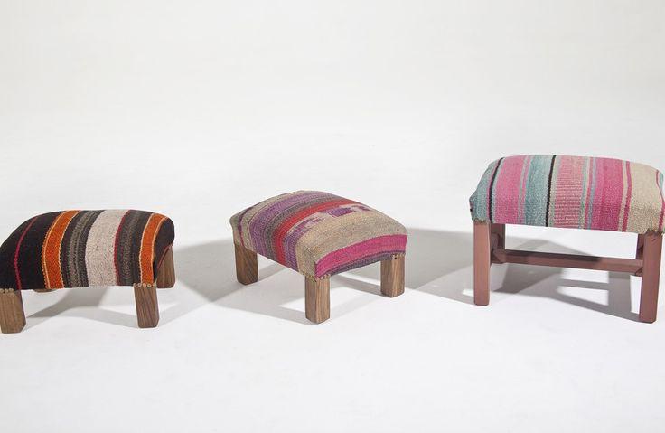 Además de alfombras, en Elementos Argentinos podés encontrar una muy buena selección de almohadondes, caminos, chalinas de alpaca o pequeños muebles. www.elementosargentinos.com.ar