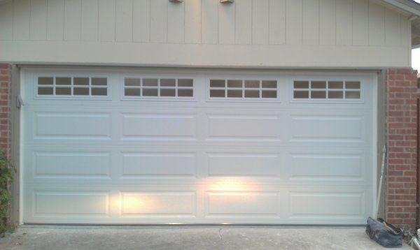 Stockton Garage Door Windows Insulated Two Car Garage