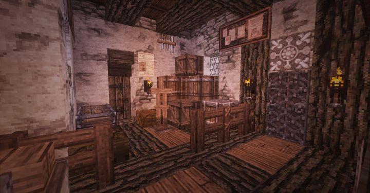 customs house - Minecraft medieval castle interior