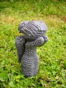 Crocheted Weeping Angel.  DON'T  BLINK.Don'T Blink, Doctorwho, Angels Crafts, Doctors Who, Crochet Crafts, Geek Crafts, Dr. Who, Weeping Angels, Crochet Angels