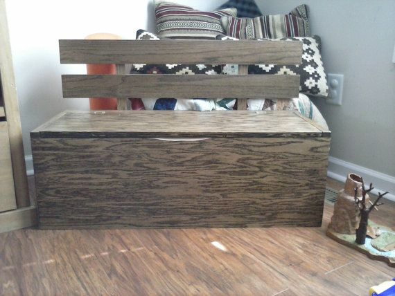wood toy box bench 2