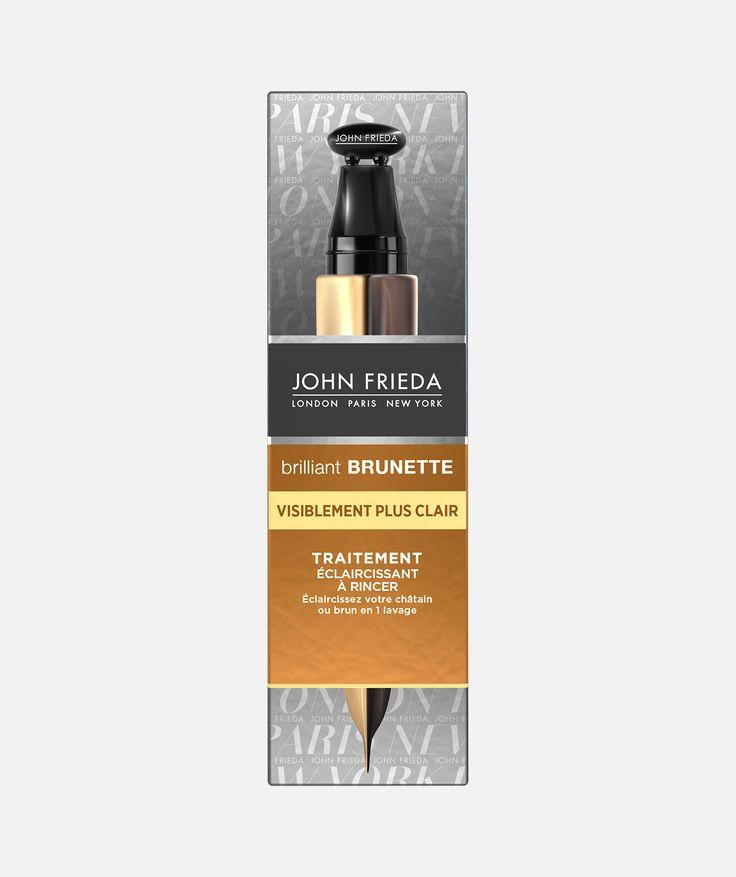 Découvrez le traitement à rincer Brilliant Brunette par John Frieda pour éclaircir ses cheveux châtains ou bruns d'un ton sans passer par la case coiffeur.
