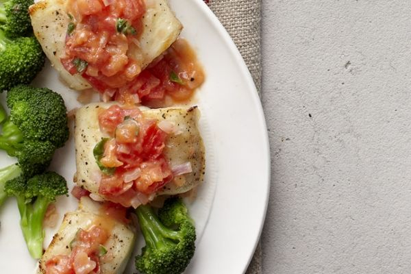 Broiled Halibut With Buttery Tomato Sauce  Be sure to buy fresh, firm fish that has little to no scent. Cook it the same day you purchase it; it makes all the difference.