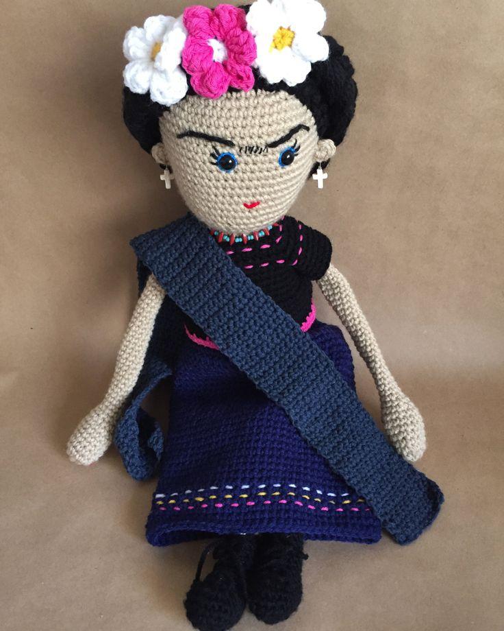 Frida Doll, Frida Kahlo, Amigurumi Doll, handmade doll, by Sanaya321 on Etsy