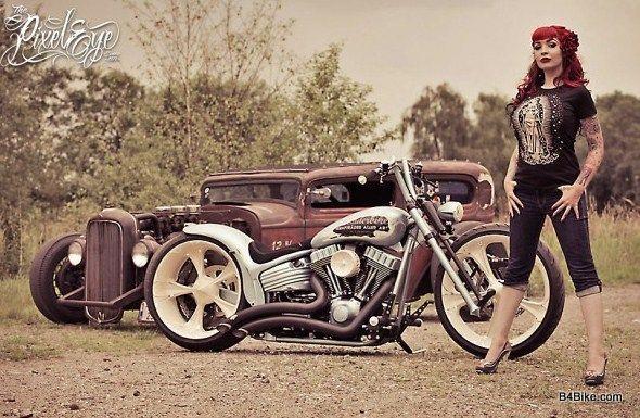 Biker girl tattoo tattoo pinterest biker girl for Biker chick tattoos