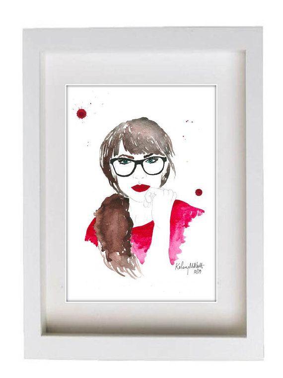 Geek & Chic Watercolor Print!
