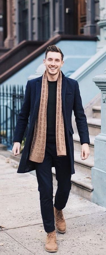 @brightbazaar – with a fall combo with a brown scarf black overcoat black sweatshirt black pants brown boots. #fallfashion #falloutfits #menswear #menstyle #mensapparel #scarf #boots #mensfashion #overcoat #mensoutfits – Luktrix