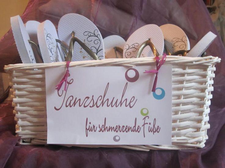 Hochzeit Notfallkörbchen Flip Flops für Müde Füße....?