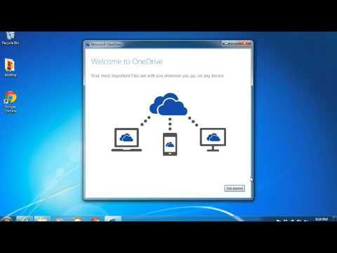 How to setup a cloud drive using MS OneDrive