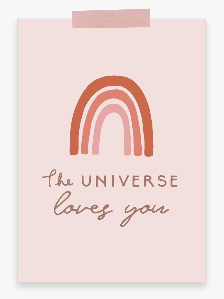 The Universe Loves You Printable Wall Art Small Printable Etsy Universe Love Rainbow Wall Art Wall Printables