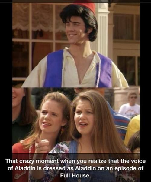 My brain. When I first realized him as the voice I did ask myself if he did dress up as Aladdin in an episode. Guess I remembered right!