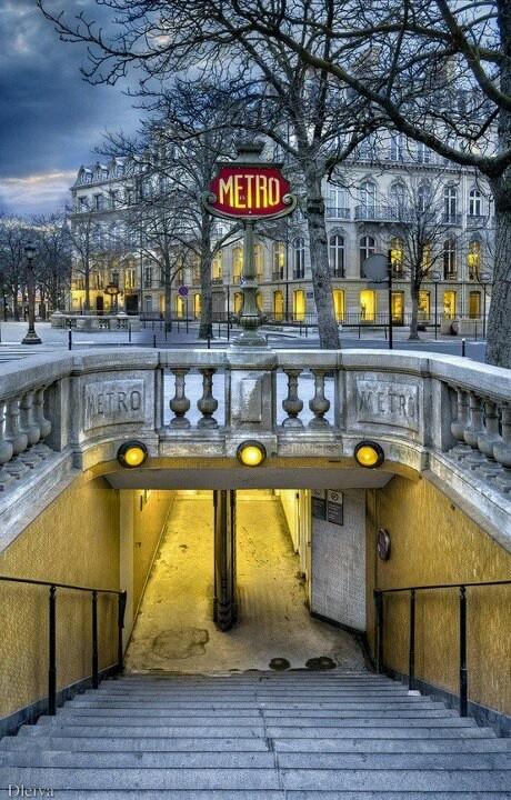 Paris Metro - reminds me of heavy luggage!