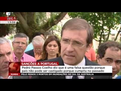 Declarações de Pedro Passos Coelho sobre 35 horas e sanções de Bruxelas