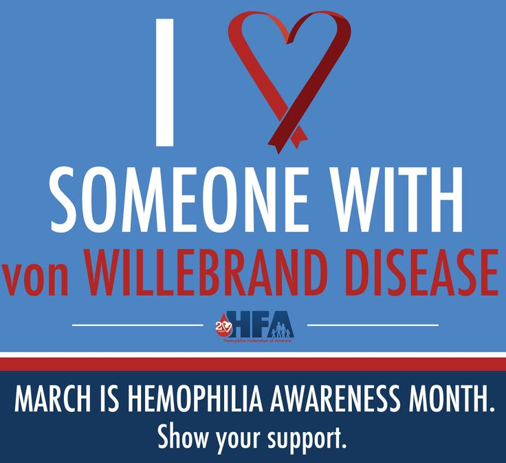 Repin this image to show support for Hemophilia Awareness Month and help to educate about bleeding disorders like, von Willebrand Disease. vWD affects males and females equally and about 1-2% of the population.