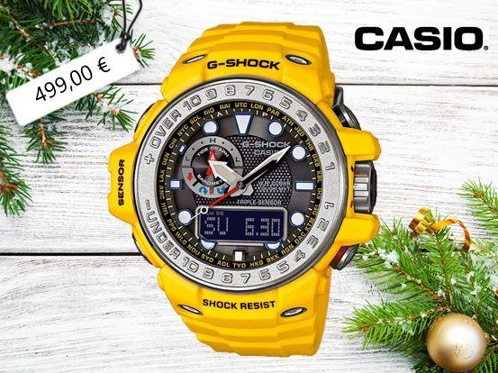 Die Casio G-Shock Gulfmaster ist robust und sportiv. Ganz bestimmt ist diese Armbanduhr ein tolles Weihnachtsgeschenk für einen aktiven Trendsetter.  Hier geht es zu den Casio Uhren im uhrcenter-Onlineshop:  https://www.uhrcenter.de/uhren/casio/ #Casio #Gulfmaster #robust #Gshock #uhrcenter #Uhr #watch #xmas #Weihnachten #Geschenkidee #Fashion #Lifestyle #Tipoftheday #Picoftheday #wow #like #sporty #sportiv #modisch #Aktivität