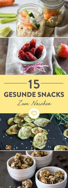 Energyballs, Frühstücksmuffins, Gemüsechips - wir haben 15 süße und herzhafte Snack-Ideen für dich zusammengestellt, bei denen Naschen einfach erlaubt ist!