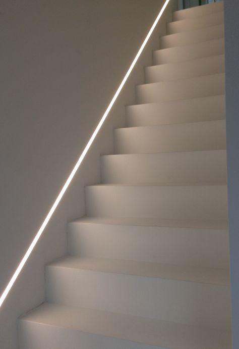 Commercial Basement Stair Lighting: LED Inbouwspots Boven De Trap