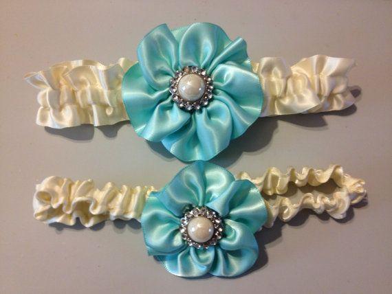 Tiffany Blue Wedding Garter  Bridal Garter and Toss by HopesBridal, $23.95