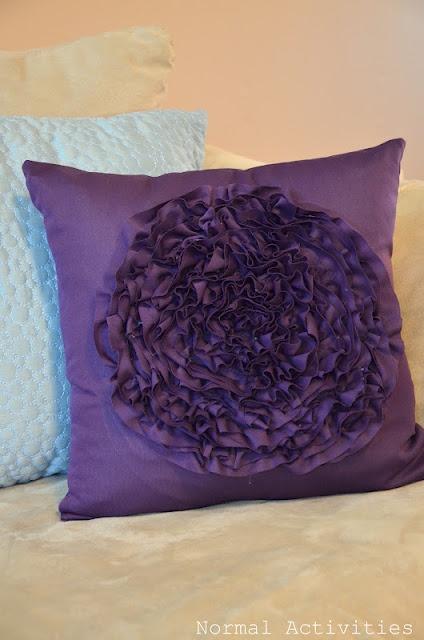 ruffle flower pillow!