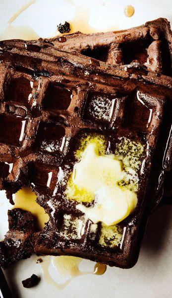 Dark chocolate waffles: Yes please.