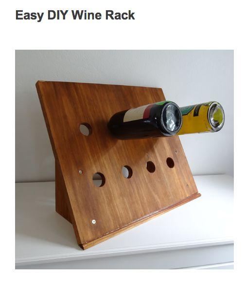 25 best attractive inspiring rewarding easydiy launches for Easy homemade wine rack