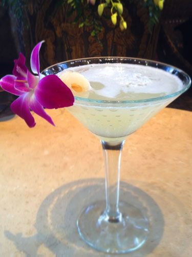Cocktail recipe: Blue Elephant's Lychee Martini #recipe #cocktail
