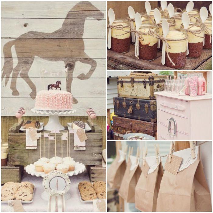 Amazing pony horse pink party inspiration