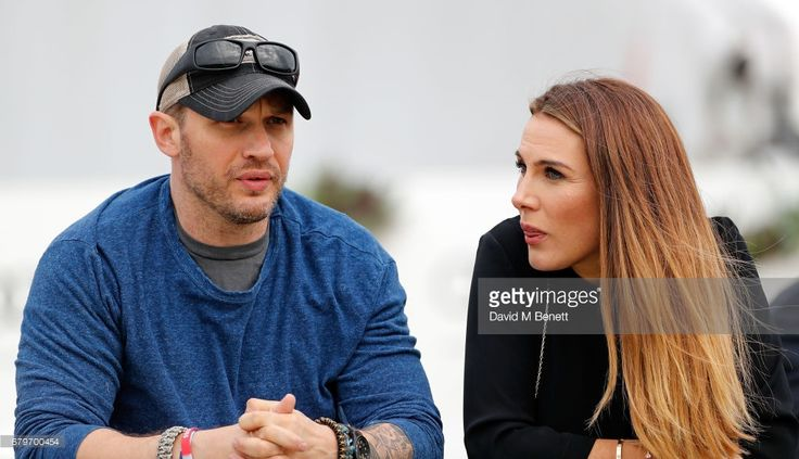 Tonya Meli and Tom Hardy attend the Audi Polo Challenge at Coworth Park on May 6, 2017 in Ascot, United Kingdom.