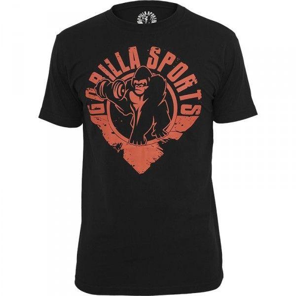 Gorilla Sports T-paita, 19,95 €. Hieno Gorilla Sportsin T-paita, vaikka treenipaidaksi tai arkiseen käyttöön. Paita löytyy koossa S - XXXL. Valmistettu 100% puuvillasta. #gorilla #tpaita #paita