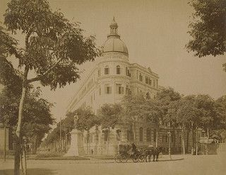 Luxurious Savoy Hotel at Soliman Pasha Square, Operated by the George Nungovitch Group & Built on Land Owned by Prince Gamil Toussoun. Cairo, Egypt, 1901.