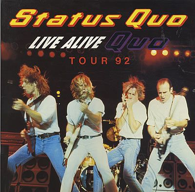 For Sale - Status Quo Live Alive Quo UK  tour programme TOUR PROGRAMME - See this and 250,000 other rare & vintage vinyl records, singles, LPs & CDs at http://eil.com