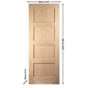 £131.99 Order online at Screwfix.com. 4 panel interior door with clean, minimal, contemporary lines to enhance both modern and traditional interiors. FREE next day delivery available, free collection in 5 minutes.