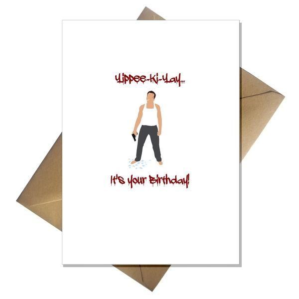 Funny Movie Themed Birthday Card Die Hard 21st Birthday Cards Funny Birthday Cards Birthday Cards