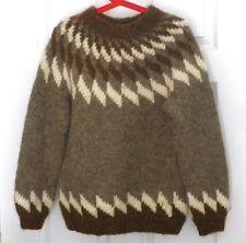 Authentic HILDA LTD Woman's Crewneck Pure Wool ICELAND SWEATER sz. M
