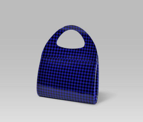 Bolso Damero ISABELLA Azul y Negro | Bolsos de señora Fiesta y Fashion
