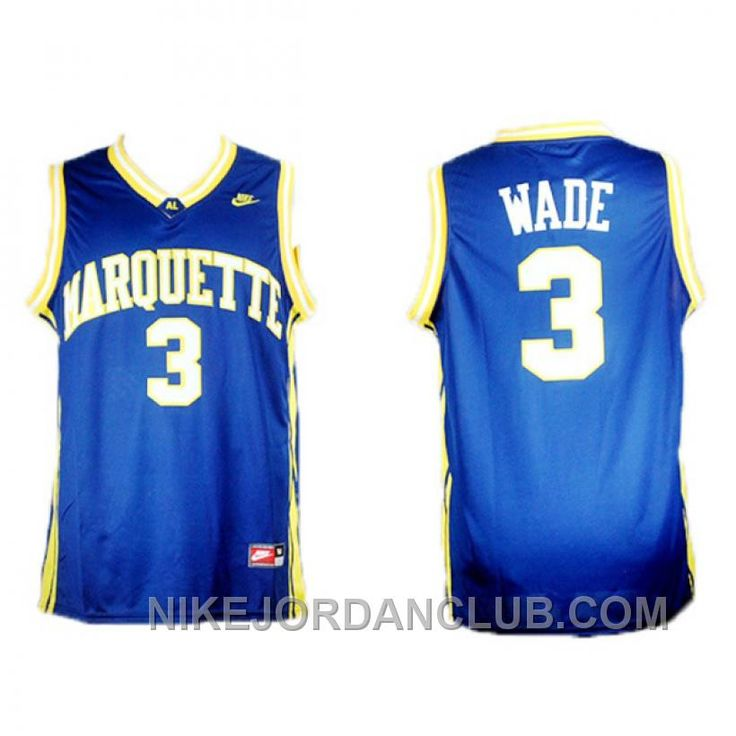 88191a6eec04 ... Buy Dwyane Wade Marquette College Blue Jersey Black Friday Deals from  Reliable Dwyane Wade Marquette College Larry Bird Indiana State NCAA Jersey  33 ...