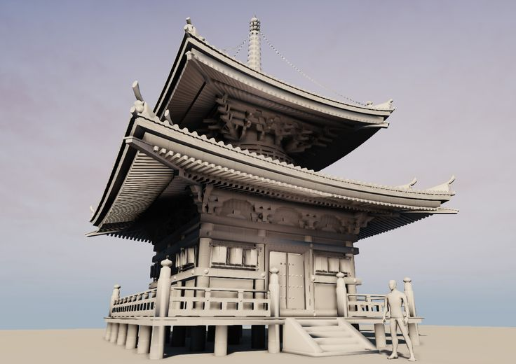 This Image Was Automatically Resized by using the Screenshot Tag.  Click to view the full version ( http://forums.epicgames.com/threads/911672-WIP-Japanese-Temple-Environment, 2009 )