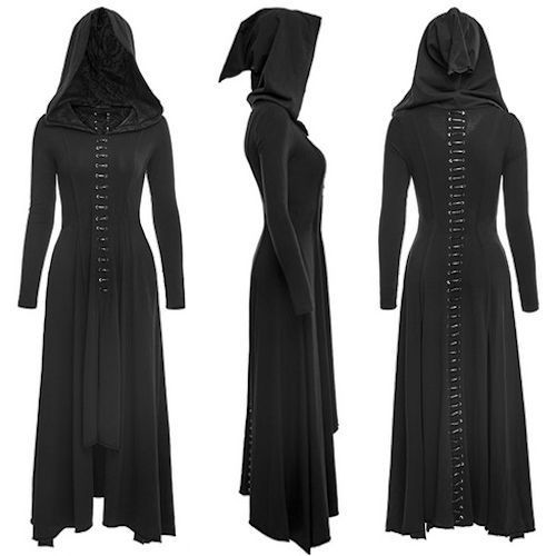 nice Black Long Sleeve Hooded Maxi Long Gothic Vampire Fashion Dress Women SKU-11402823 by http://www.polyvorebydana.us/gothic-fashion/black-long-sleeve-hooded-maxi-long-gothic-vampire-fashion-dress-women-sku-11402823/