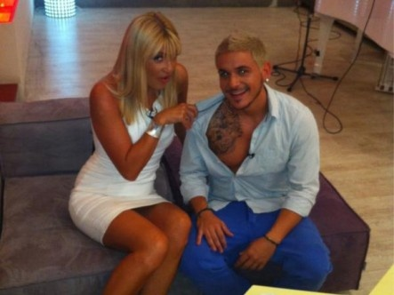 "Showing off my #tattoo before going live on ""Proino Mou"" at Mega Channel TV (July 2012)"