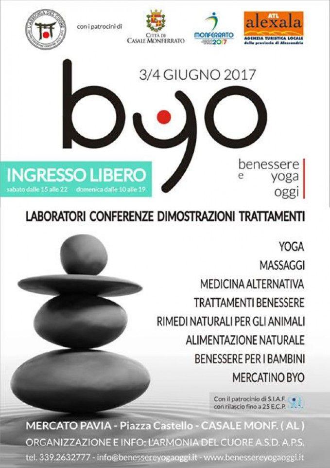 BYO @ Casale Monferrato 3 - 4 giugno #BYO #benessere #yoga #alimentazione #salute e faremo il #Mandala di #coriandoli più grande del mondo!!