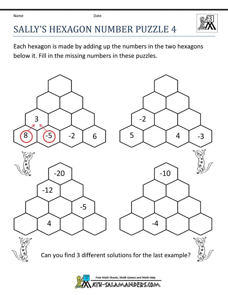 Free Math Puzzles 4th Grade Math Logic Puzzles Maths Puzzles Free Math