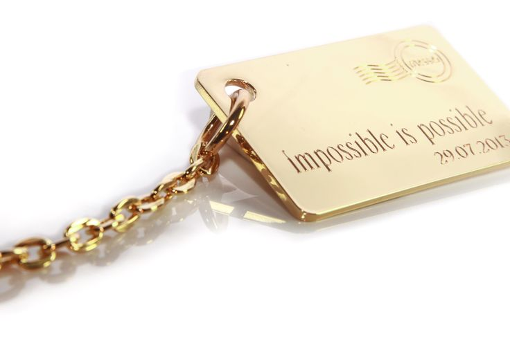 """messei_Pendant """"goldi chain"""" with your special message"""