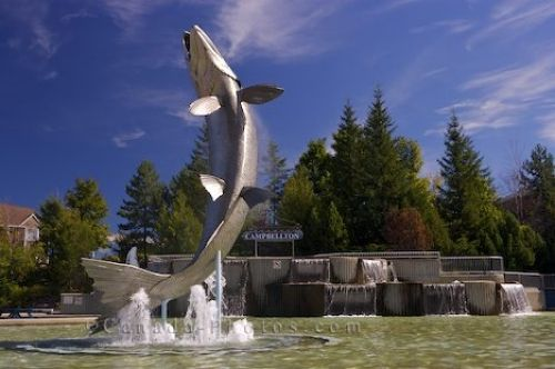 images of new brunswick - Google Search; Atlantic Salmon Monument, Campbellton NB