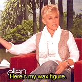 Ellen Degeneres and Jane Lynch