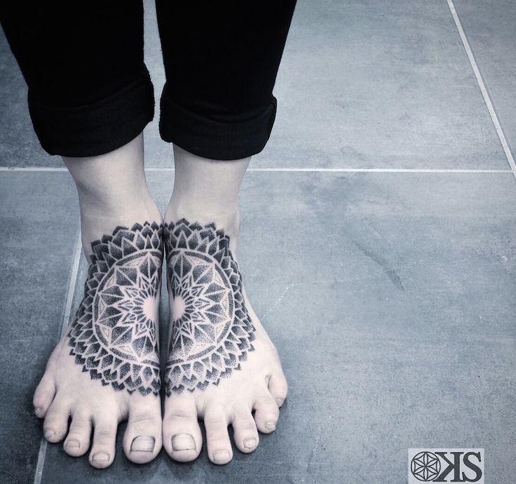 foot mandala tattoos by Keegan Sweeney