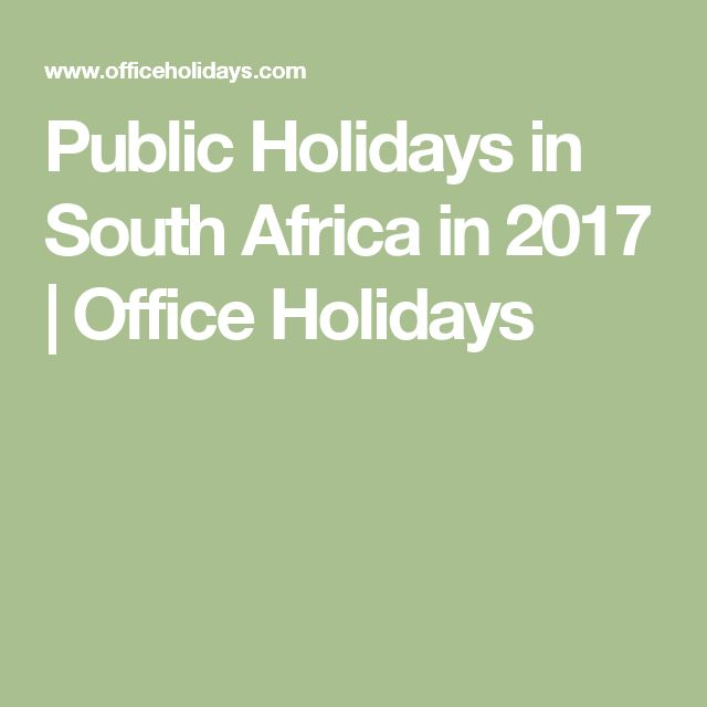 Public Holidays in South Africa in 2017 | Office Holidays